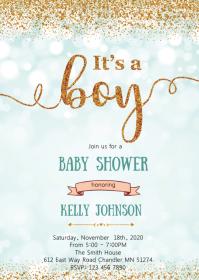 Confetti baby shower invitation