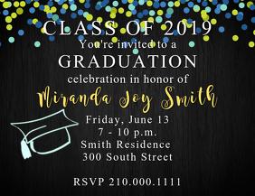 Confetti Grad Invite Template