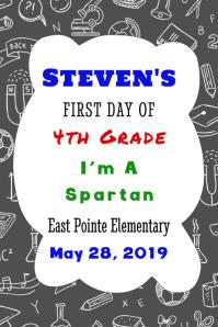 Day of School Photo Board