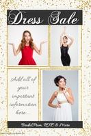 confetti sales poster celebration poster dress prom party