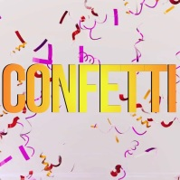 CONFETTI VIDEO BACKGROUND FREE DOWNLOAD Instagram Post template