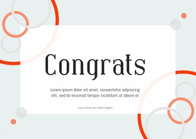 congrats card template