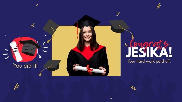 Congrats Graduate Twitter 帖子 template