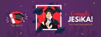 Congrats Graduate Facebook Cover Photo template