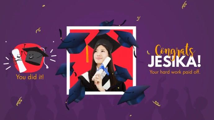 Congrats Graduate Twitter Post template