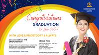 Congrats Graduation Twitter Post template