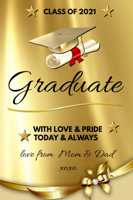 CONGRATS Graduation Póster template