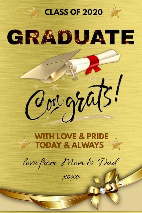 CONGRATS Graduation Cartaz template