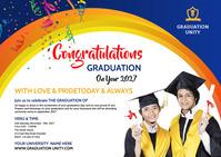 Congrats Graduation Poskaart template