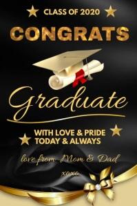 CONGRATS Graduation 海报 template
