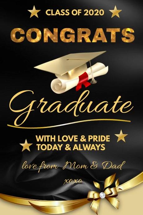 CONGRATS Graduation Affiche template