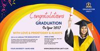 Congrats Graduation Facebook begivenhed cover template
