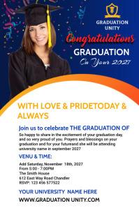 Congrats Graduation Pinterest Graphic template