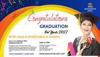 Congrats Graduation Blog Header template