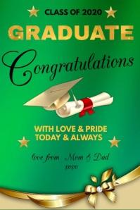 CONGRATS Graduation Poster template