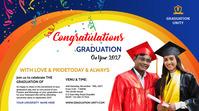 Congrats Graduation ภาพปก YouTube Channel template