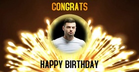 CONGRATS HAPPY BIRTHDAY VIDEO ad template Facebook Shared Image