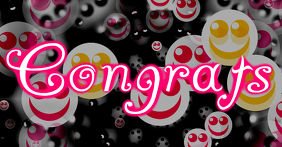 congrats text with happy faces