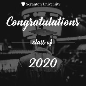 Congrats university graduates 2020 card