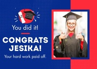 Congratulation Graduate Briefkaart template