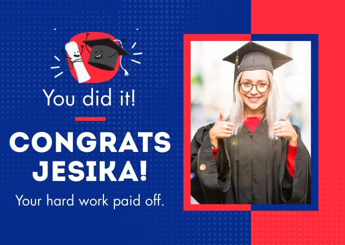 Congratulation Graduate ไปรษณียบัตร template
