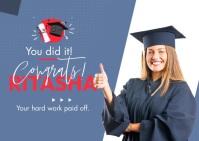 Congratulation Graduate Postal template