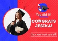 Congratulation Graduation Card Postal template