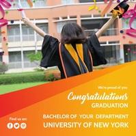 Congratulation Graduation Instagram Plasing template
