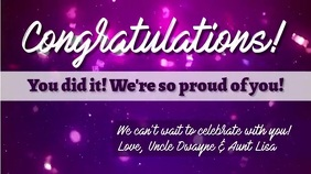 Congratulations! You did it Digitalanzeige (16:9) template
