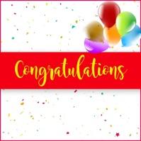 Congratulations, Celebration Instagram-bericht template