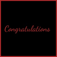 Congratulations, Success Publicação no Instagram template