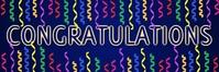 Congratulations Banner (Dark) template