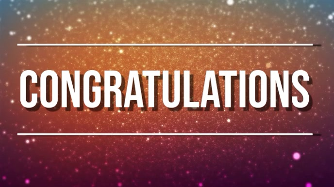 congratulations Digitale display (16:9) template