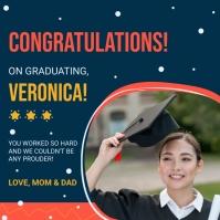 Congratulations for graduations message Instagram Post template