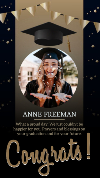 congratulations grad INSTAGRAM STORY DESIGN template