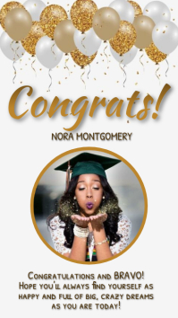 congratulations grad INSTAGRAM STORY TEMPLATE