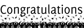 Congratulations graduate banner template