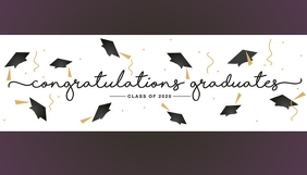 Congratulations graduates graduation 2020 Business Card template