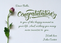 congratulations post card template Postcard