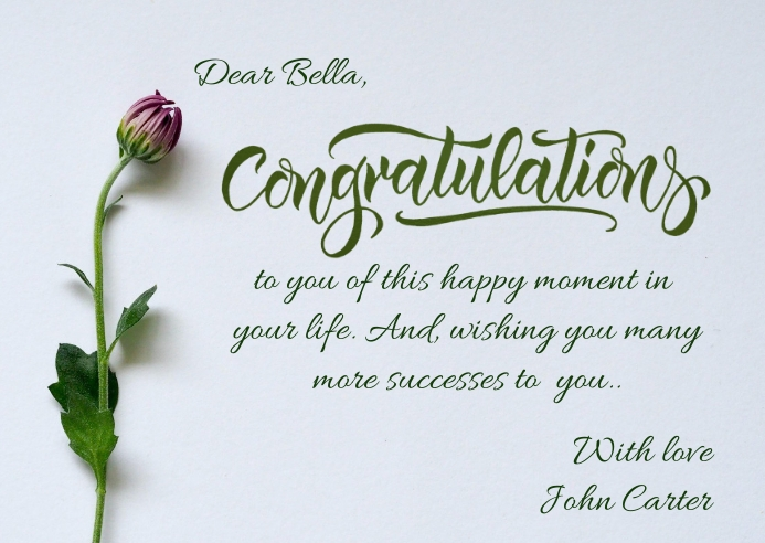 congratulations post card template Poskaart