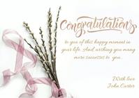 congratulations post card template Postal
