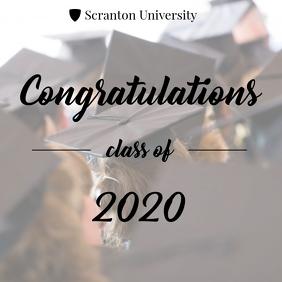 Congratulations university graduate card 2020 Instagram Post template
