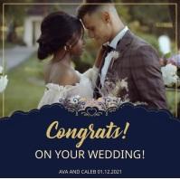 Congratulations wedding wish Instagram Post template