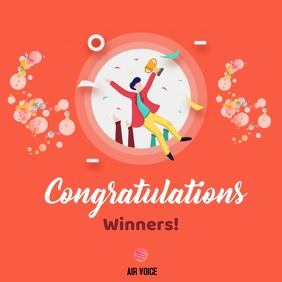 Congratulations Winners! Instagram Post template