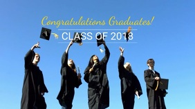 Congratulatory Graduation Video Template Digitalanzeige (16:9)