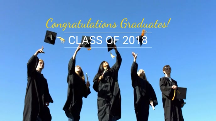 Congratulatory Graduation Video Template Tampilan Digital (16:9)