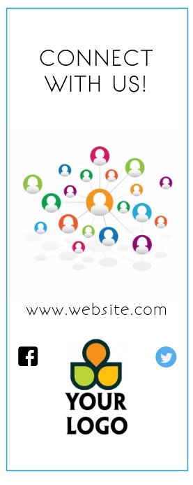 connect with us social media roll up banner template