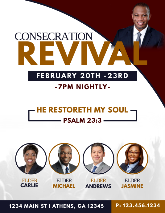 Consecration Revival Flyer (Letter pang-US) template