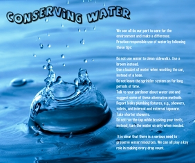 Conserving Water Large Rectangle template