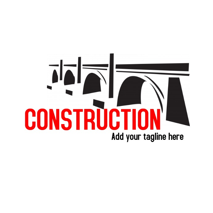 Construction bridge iconic logo